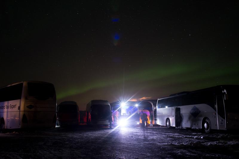 Pas de pollution lumineuse en Islande.